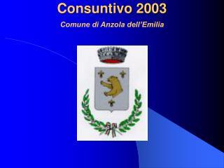 Consuntivo 2003