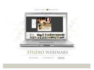 The following PowerPoint presentation is a compilation of two Master Class Webinars.
