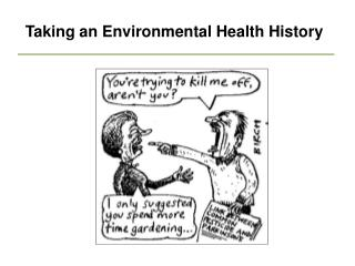 Taking an Environmental Health History