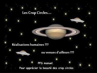 Les  Crop Circles ….