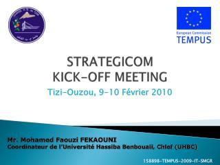 STRATEGICOM KICK-OFF MEETING