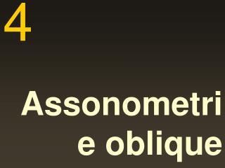 Assonometrie oblique