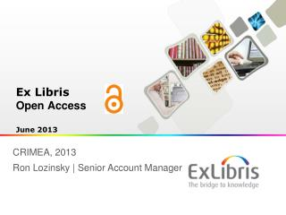 Ex Libris Open Access  June 2013
