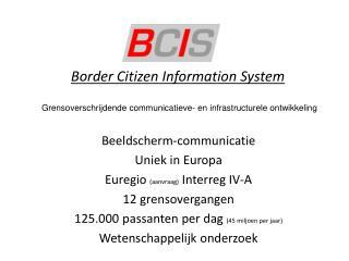 Border  Citizen Information System