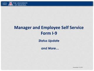 Manager and Employee Self Service Form I-9