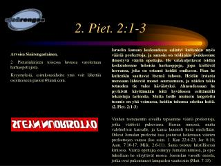 2. Piet. 2:1-3