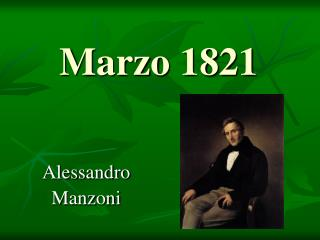 Marzo 1821