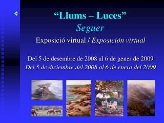 """""""Llums – Luces"""" Seguer"""