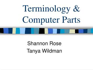 Terminology & Computer Parts