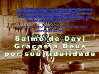 Salmo 138 Bíblia Viva