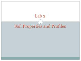 Lab 2  Soil Properties and Profiles