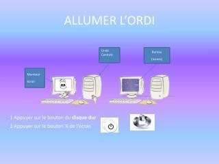 ALLUMER L�ORDI