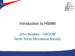 Introduction to HSMM
