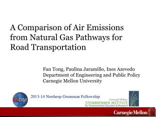 A Comparison of Air Emissions from Natural  G as  P athways for Road Transportation