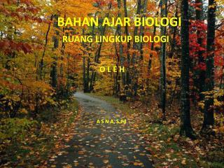 BAHAN AJAR BIOLOGI