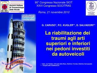 95  Congresso Nazionale SIOT XXVI Congresso SOCITRAS   Roma, 21 novembre 2010
