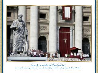 Frases de la homilía del Papa Francisco