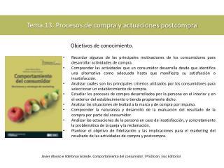 Tema 13. Procesos de compra y actuaciones postcompra