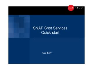 SNAP Shoot Services
