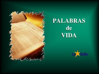 PALABRAS    de                      VIDA