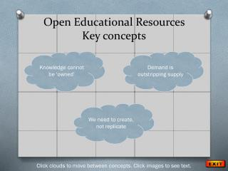 Open Educational Resources Key concepts