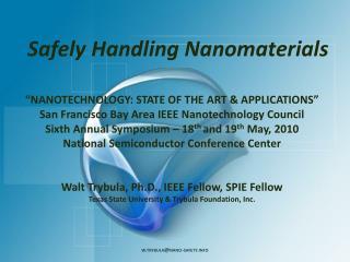 Safely Handling Nanomaterials