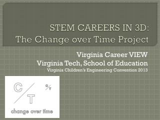 STEM CAREERS IN 3D:   The Change over Time Project