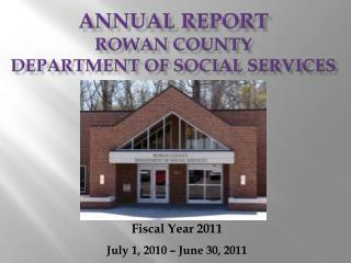 Annual Report Rowan County  Department of Social Services
