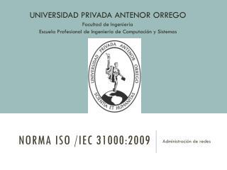 NORMA ISO /IEC 31000:2009