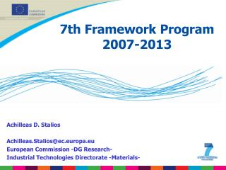 7th Framework Program 2007-2013