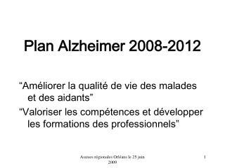 Plan Alzheimer 2008-2012