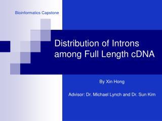 Distribution of Introns among Full Length cDNA