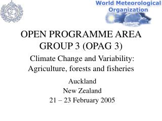 Auckland New Zealand 21 – 23 February 2005