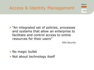 Access & Identity Management