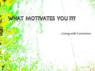 What  Motivates  You ???