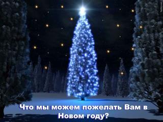 Что  мы можем  пожелать Вам в Новом году?