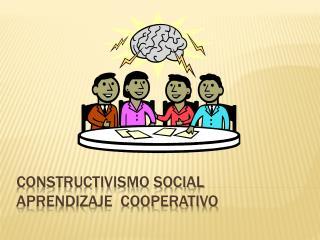 Constructivismo social Aprendizaje  cooperativo