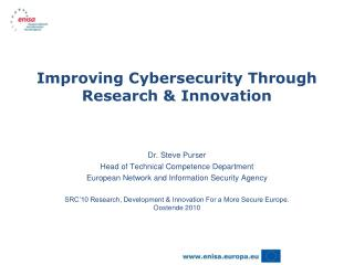 Improving Cybersecurity Through Research & Innovation
