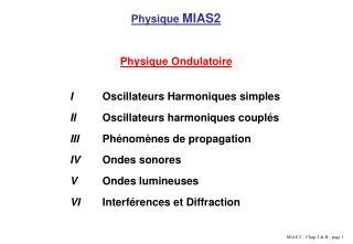 Physique  MIAS2