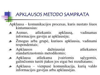 APKLAUSOS METODO SAMPRATA