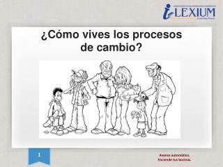 ¿Cómo vives los procesos de cambio?