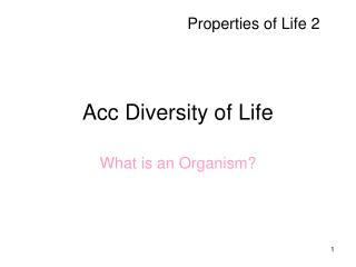 Acc Diversity of Life