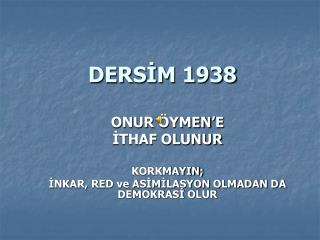 DERSİM 1938