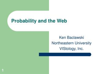 Probability and the Web