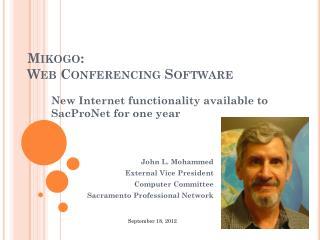 Mikogo: Web Conferencing Software