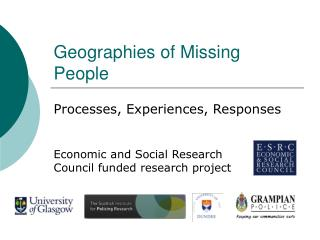Geographies of Missing People