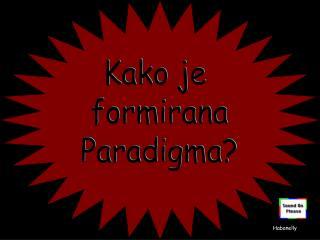 Kako je  formirana Paradigma?