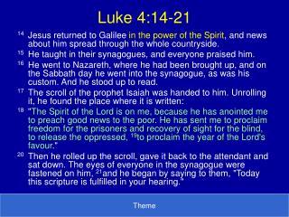 Luke 4:14-21