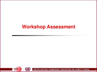 Workshop Assessment
