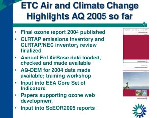 air quality and climate change as 77 climate change, air quality, and health page 1 air quality, climate change and health climate change is reducing air quality in many ways in this brief we focus on the.